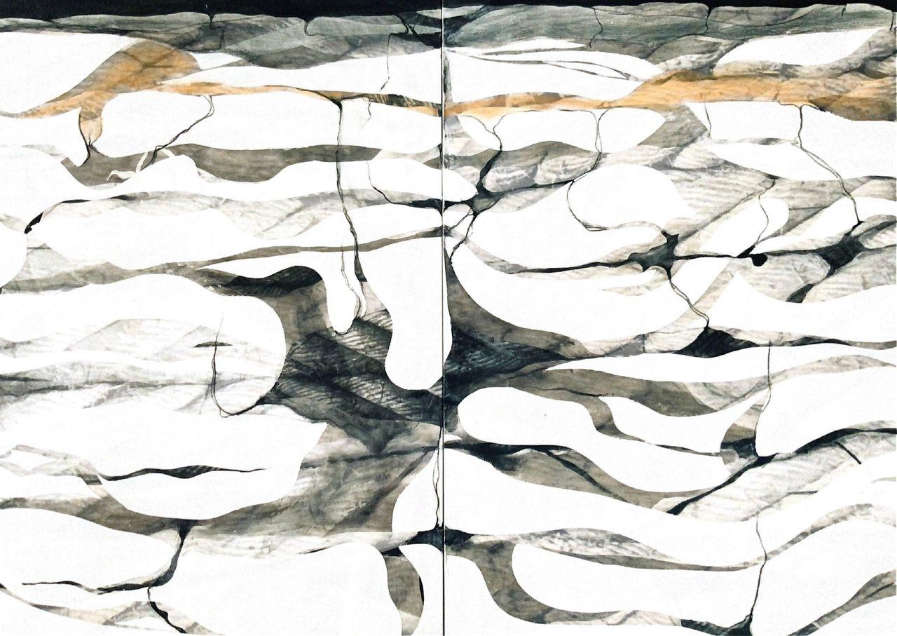 Enredos, 2004 - técnica mixta sobre tela 145 x 220 cm