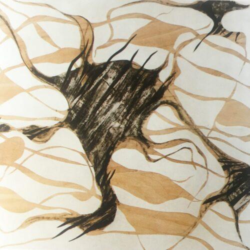 Huellas de memoria, 2003 - técnica mista sobre tabla 159 x 170 cm