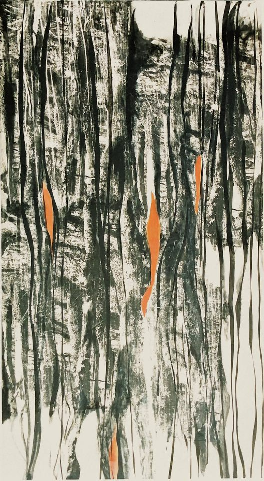 Levedad, 2003 - técnica mista sobre tela 150 x 270 cm