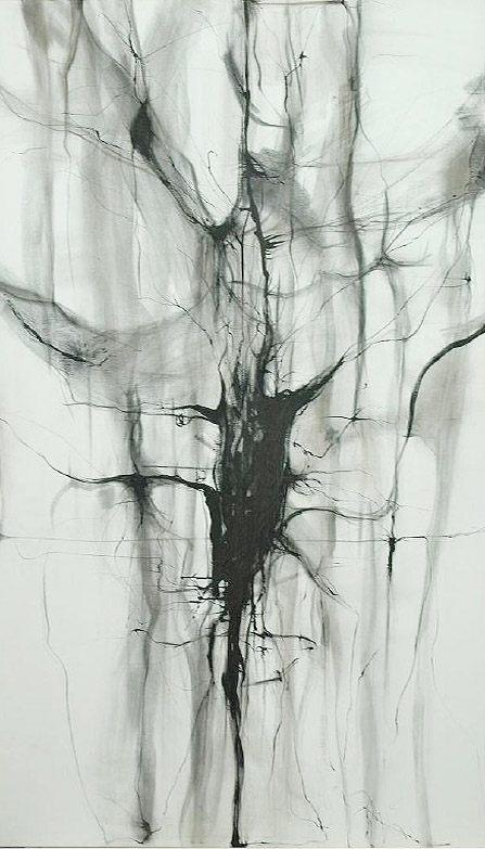 Memoria, 2008 - tinta sobre tela 170 x 110 cm