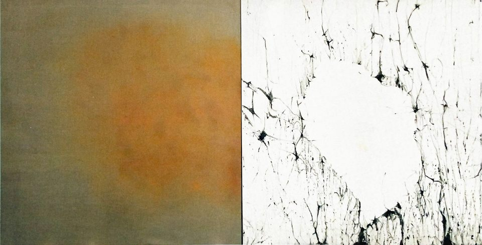 Memoria perdida III, 2003 - técnica mista sobre lino y tela 198 x 380 cm