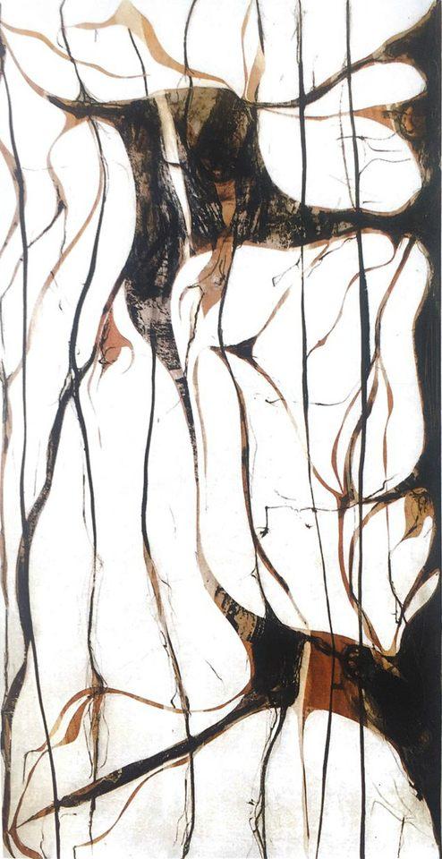 Pequeñas huellas, 2003 - técnica mixta sobre tabla 110 x 200 cm