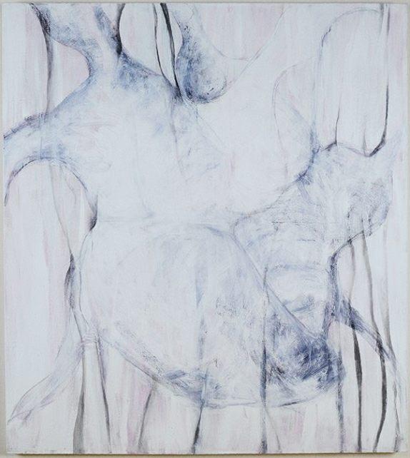 corazón blanco, pintura s-tela-130 x 145 cm