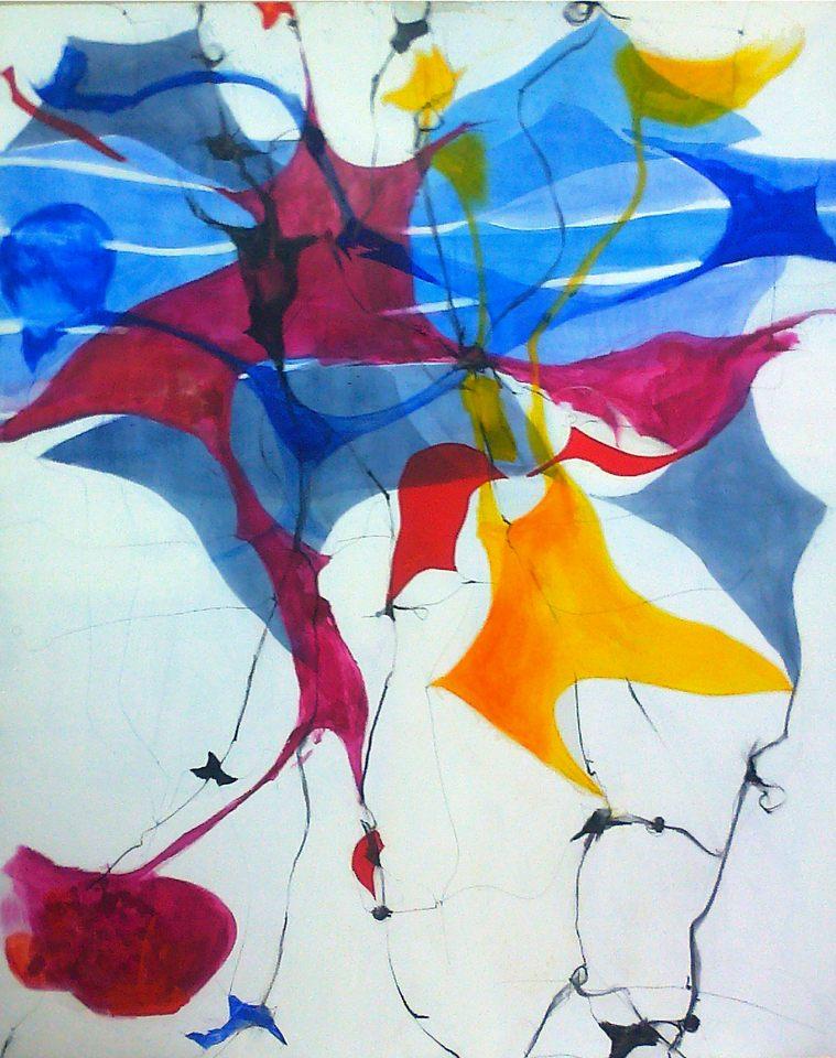 dibujo para orquesta 1-190x145 cm.Tinta s-tela
