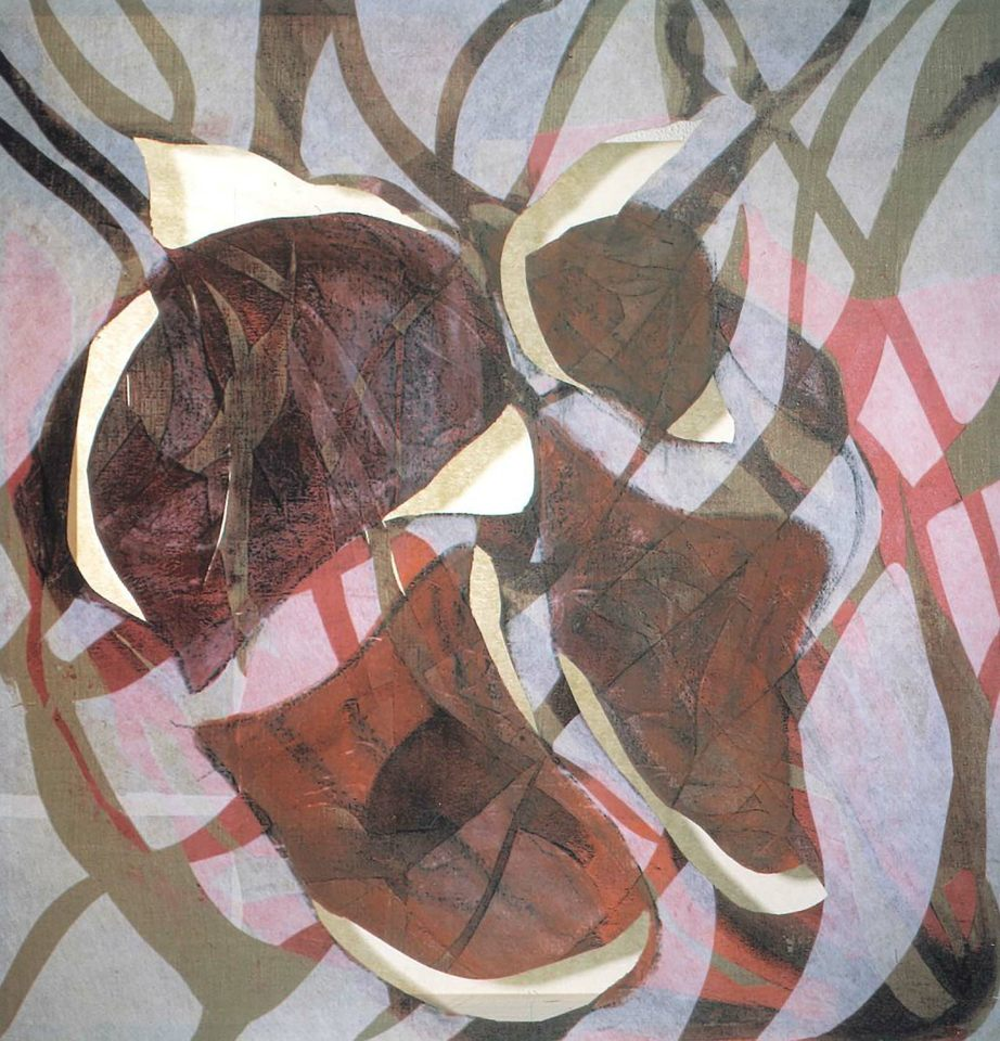 Calor roto,2001 Collage sobre tela 107 x 104 x 10 cm