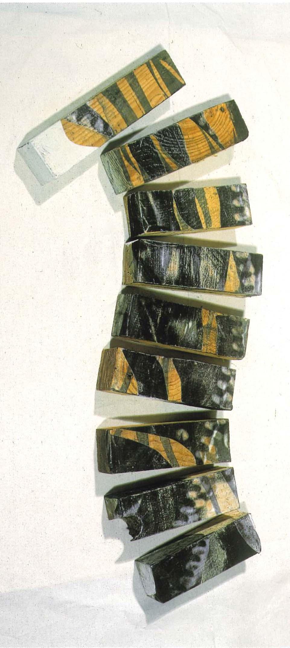 Engranajes II, 2000 collage s-madera 65 x 23 x 8 cm