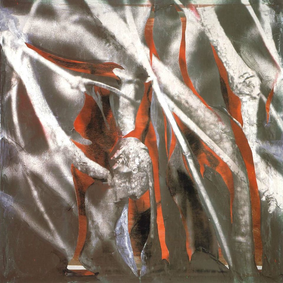 Latente, 2001 t copia.mixta s tela 100 x 100 x 10 cm